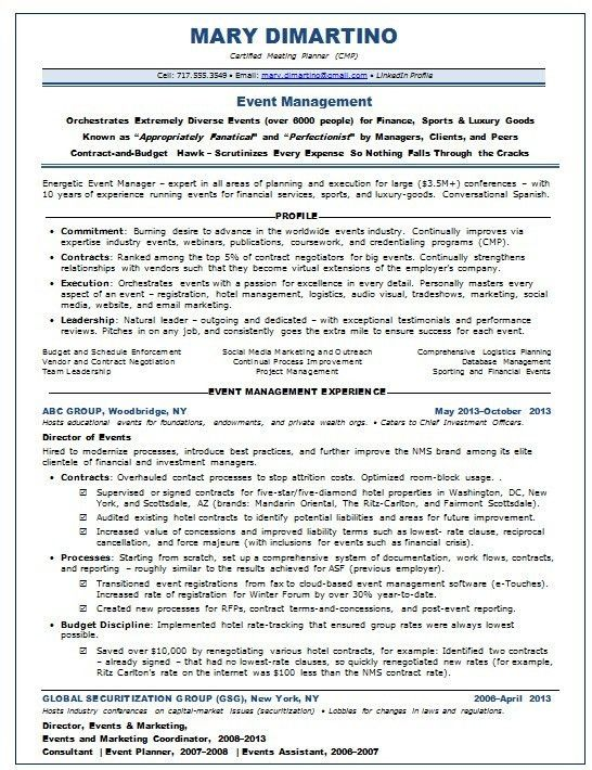 Event Manager Resume. event coordinator cv ctgoodjobs powered by ...