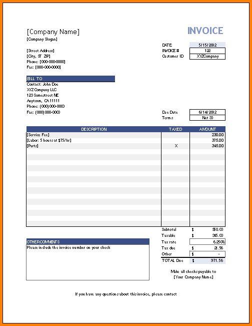 Download Invoice Template Microsoft Word 2000 | rabitah.net