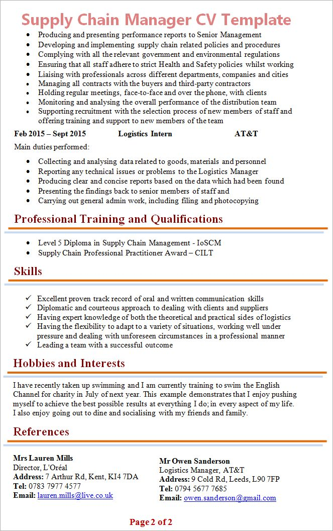 Good cv template kent