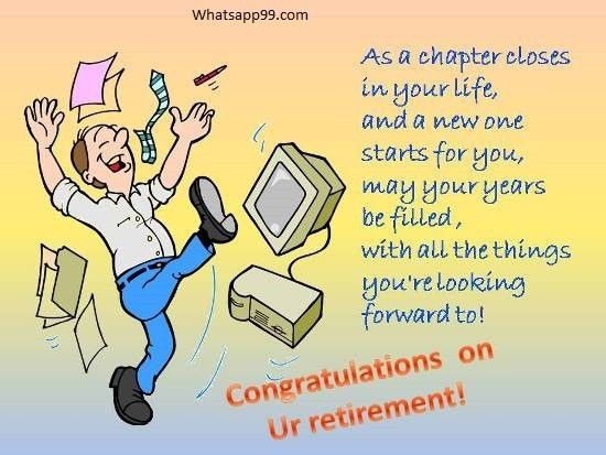 Congratulations on your retirement.   whatsapp99.com