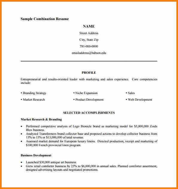 Hybrid Resume Template Word