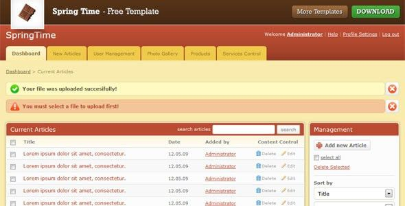 25 Free and Premium Admin HTML Website Templates and Layouts ...