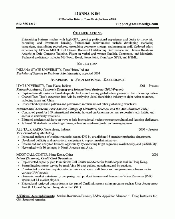 Sensational Idea Entry Level Resumes 11 Accounting Internship ...