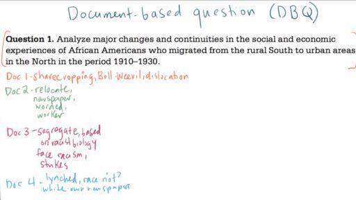 AP US History DBQ example 1 (video) | Khan Academy