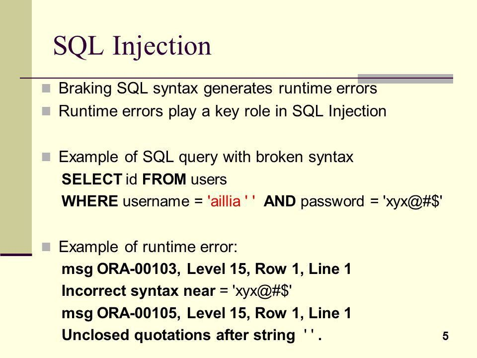 Error-based SQL Injection - ppt video online download