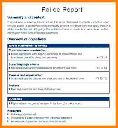 8+ sample police report | letter format for