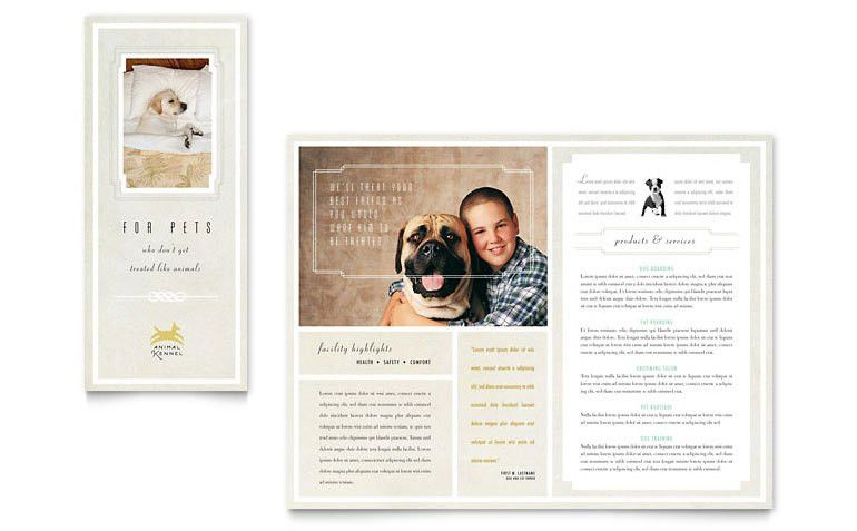 Pet Hotel & Spa Brochure Template - Word & Publisher