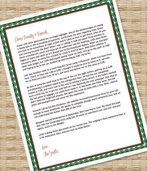 Printable Christmas Letter Paper – Microsoft Word Template ...