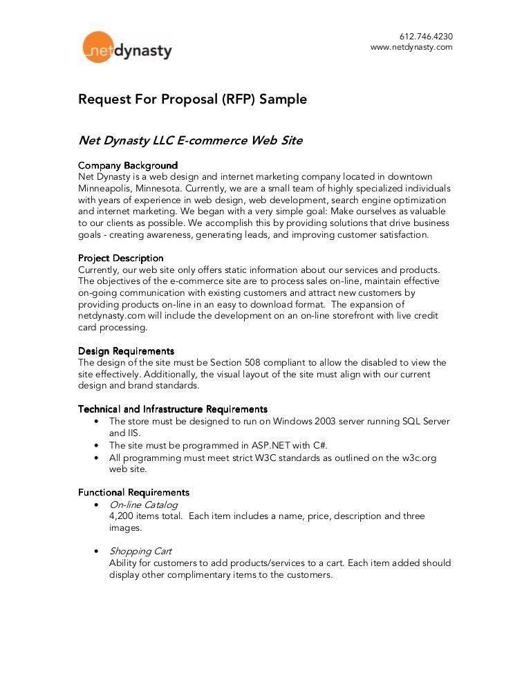 Rfp Response Template. Net Dynasty - Rfp Sample Media Agency Rfp ...
