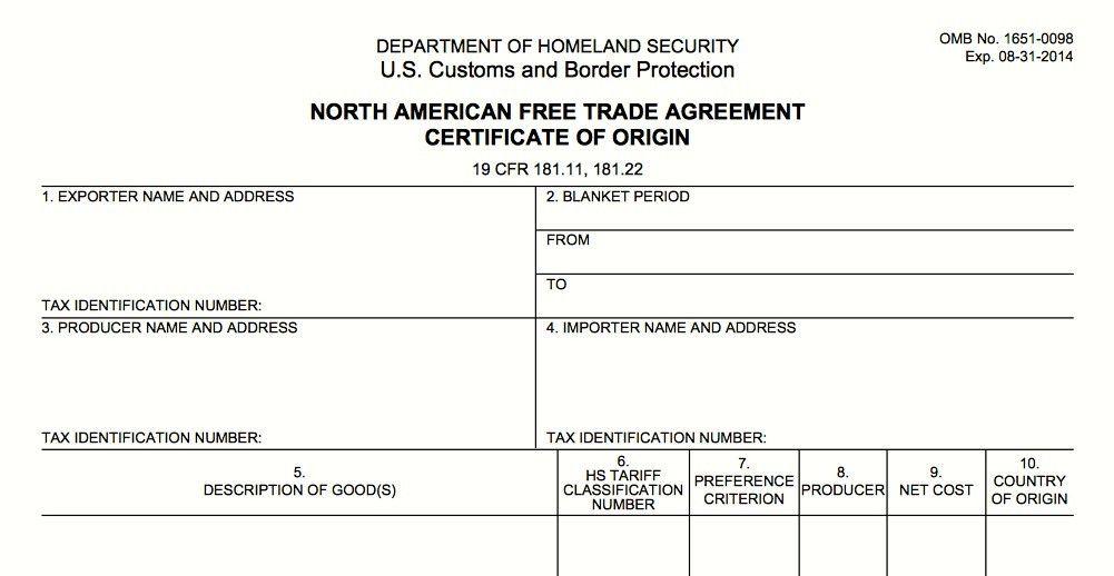 5 Certificate of Origin Templates - Excel PDF Formats