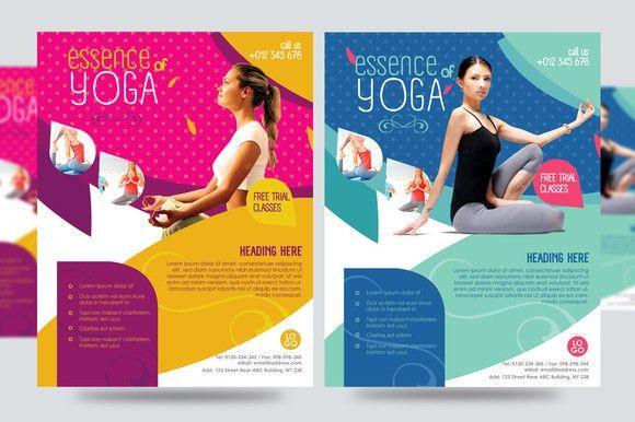 20 Beautiful Yoga Flyer Templates