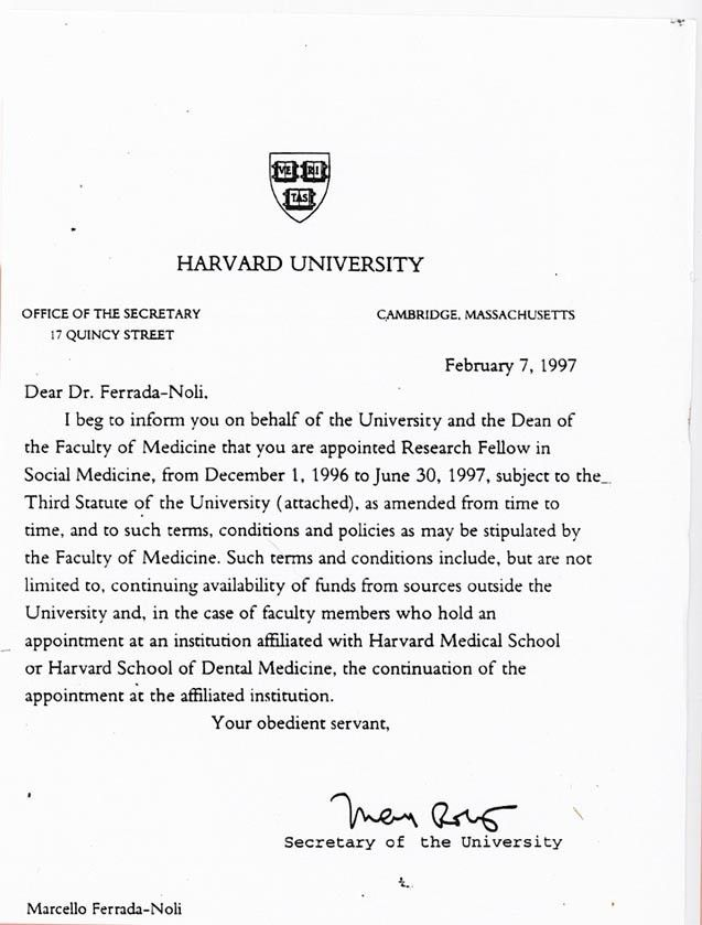 best cover letter harvard