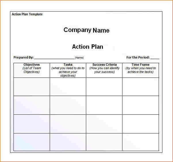 Action plan template - Business Proposal Templated - Business ...