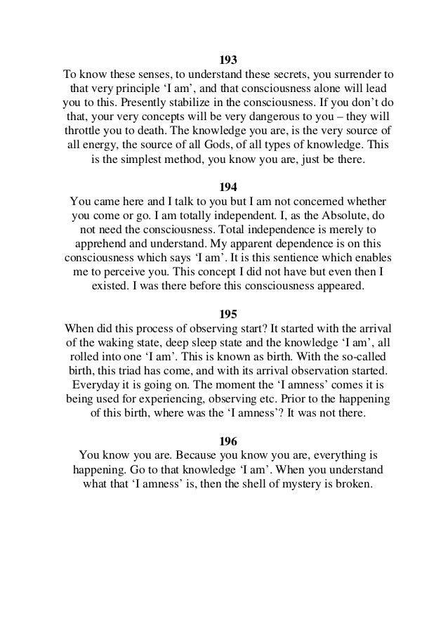 The Complete 'I am' quotes of Sri Nisargadatta Maharaj