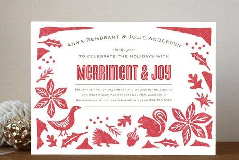 Holiday Engagement Party Invitations - iidaemilia.Com