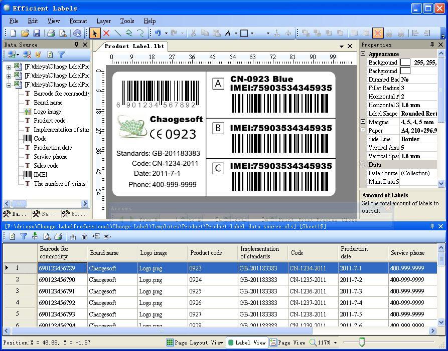 Efficient Labels - Download