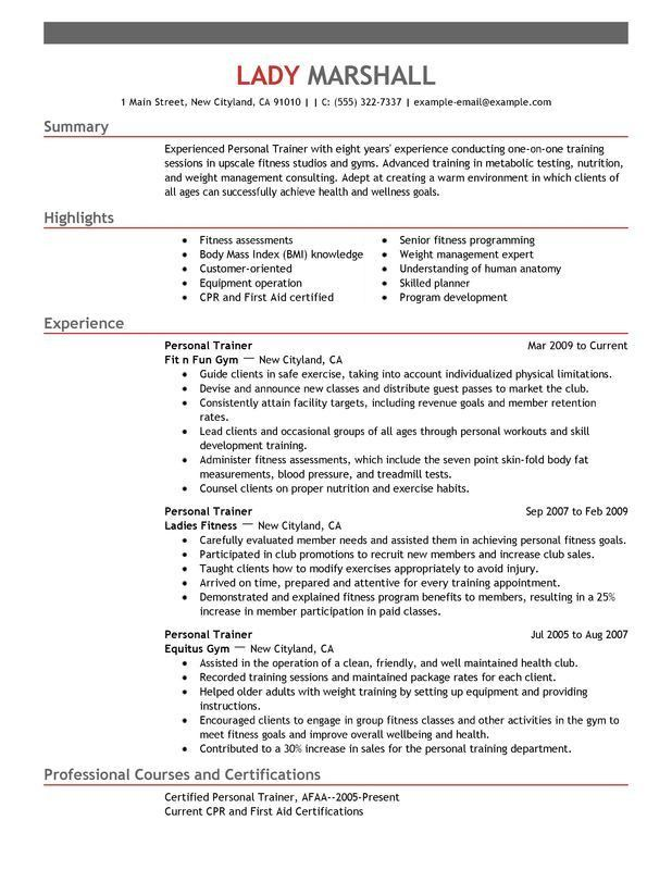 Appealing Personal Resume 12 Objective In For Trainer - Resume Example