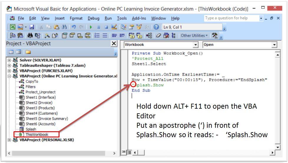 Excel VBA Invoice Generator - Easy Invoice Generator - Online PC ...