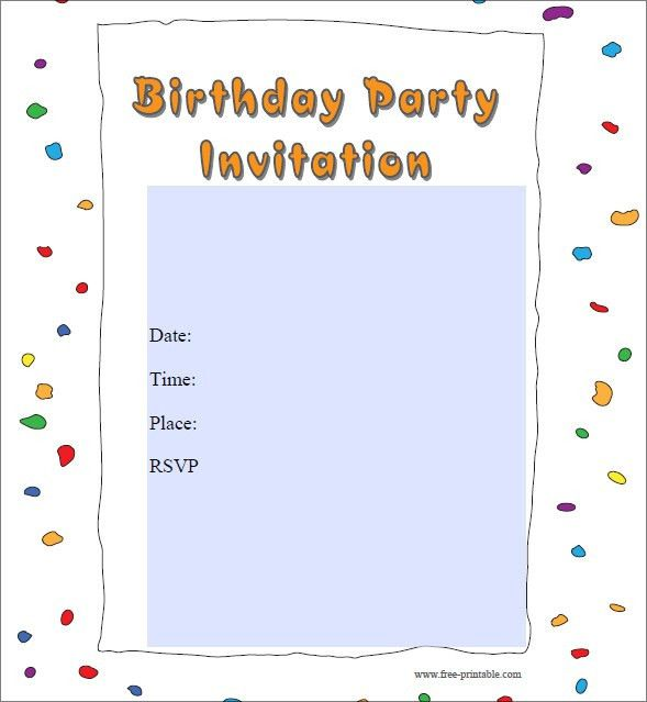 Free Birthday Party Invitation Templates - marialonghi.Com