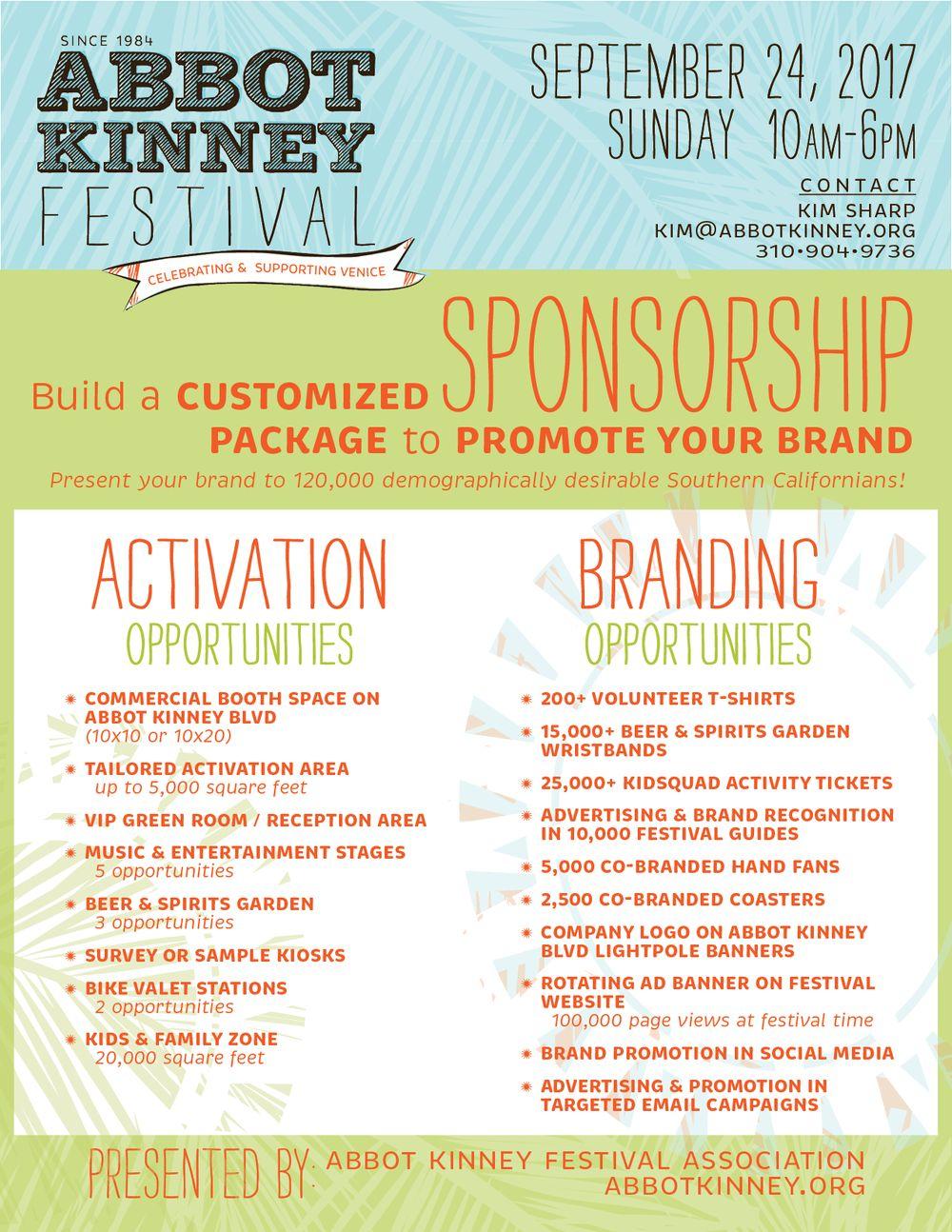 Be a Sponsor — Abbot Kinney Festival