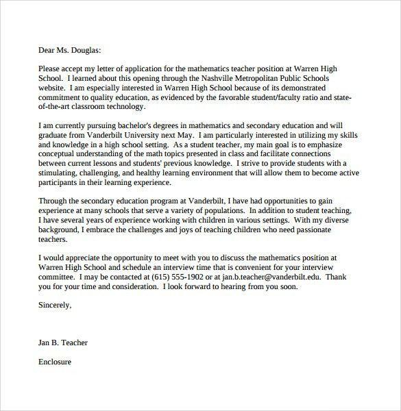 Cover Letter For Educators