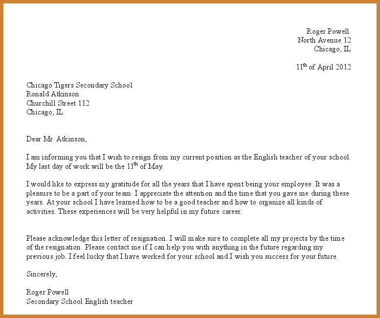 formal resignation letter | notary letter