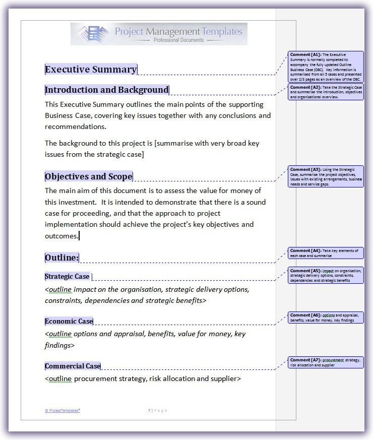 Business Case Template Word : Selimtd