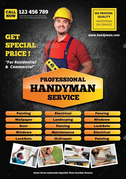 Handyman Flyer by monggokerso | GraphicRiver