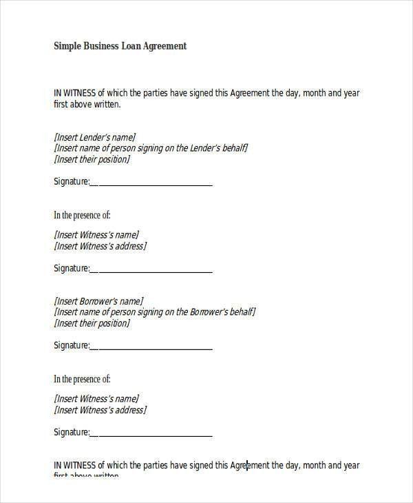 Free Loan Agreement Form