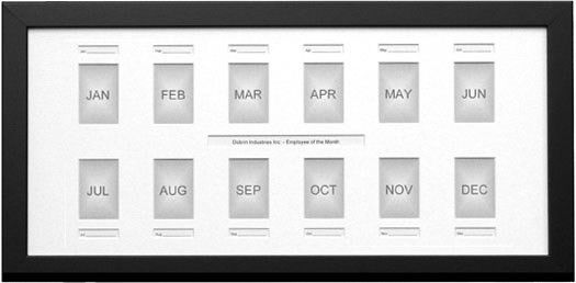 Employee of the Month 13x27 Frame to hold monthly photos for a ...