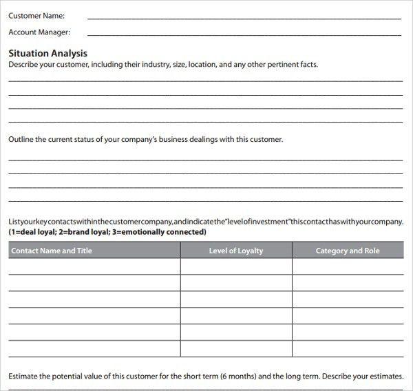 Account Plan Template. Strategic Plan Template - 10+ Free Word ...