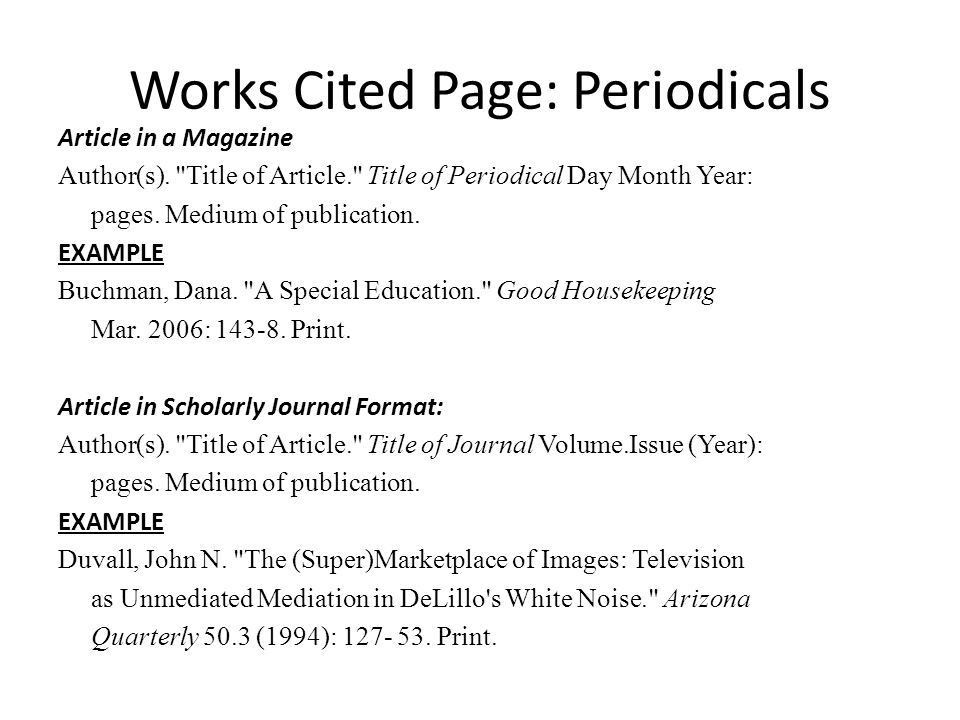 MLA Works Cited & In-Text Citations - ppt video online download