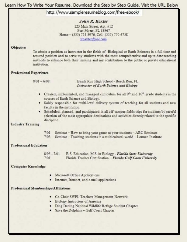 Curriculum Vitae : Pediatric Neurologist Tampa Photo Of Resume ...