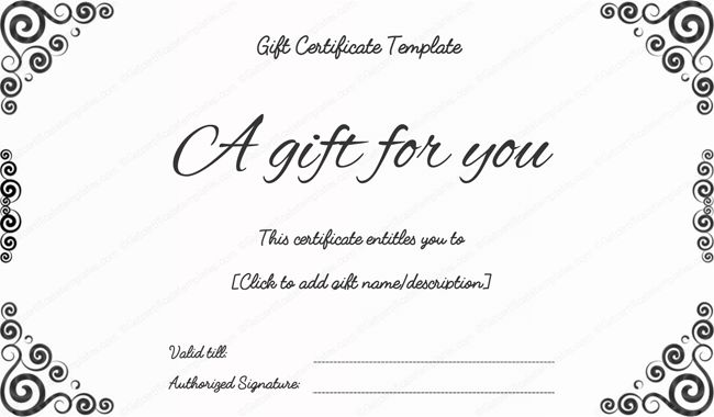 Business Gift Certificates - Certificate Templates