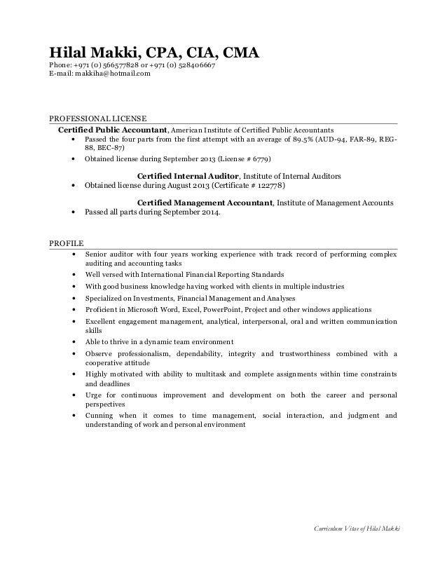 Resume - Hilal Makki