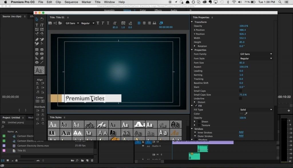 How to Create and Share Title Templates in Premiere Pro
