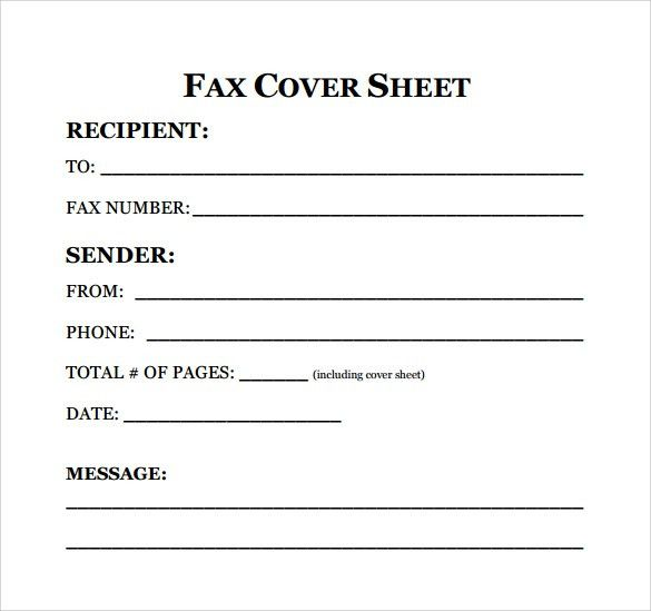 Sample Fax Cover Sheet for Resume - 7+ Documents in PDF, Word