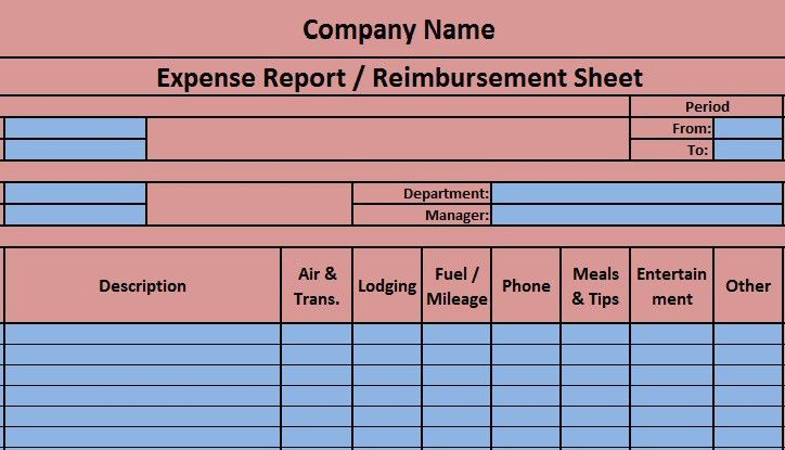 Download Expense Report Excel Template - ExcelDataPro