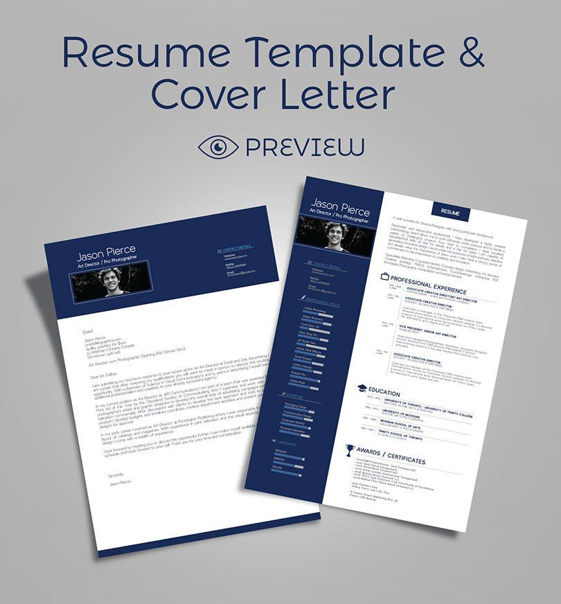 Simple Premium Resume (CV) Design, Cover Letter Template, 4 PSD ...