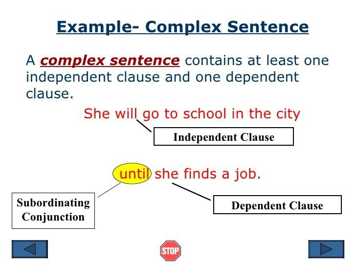 Complex Sentences: Independent Study