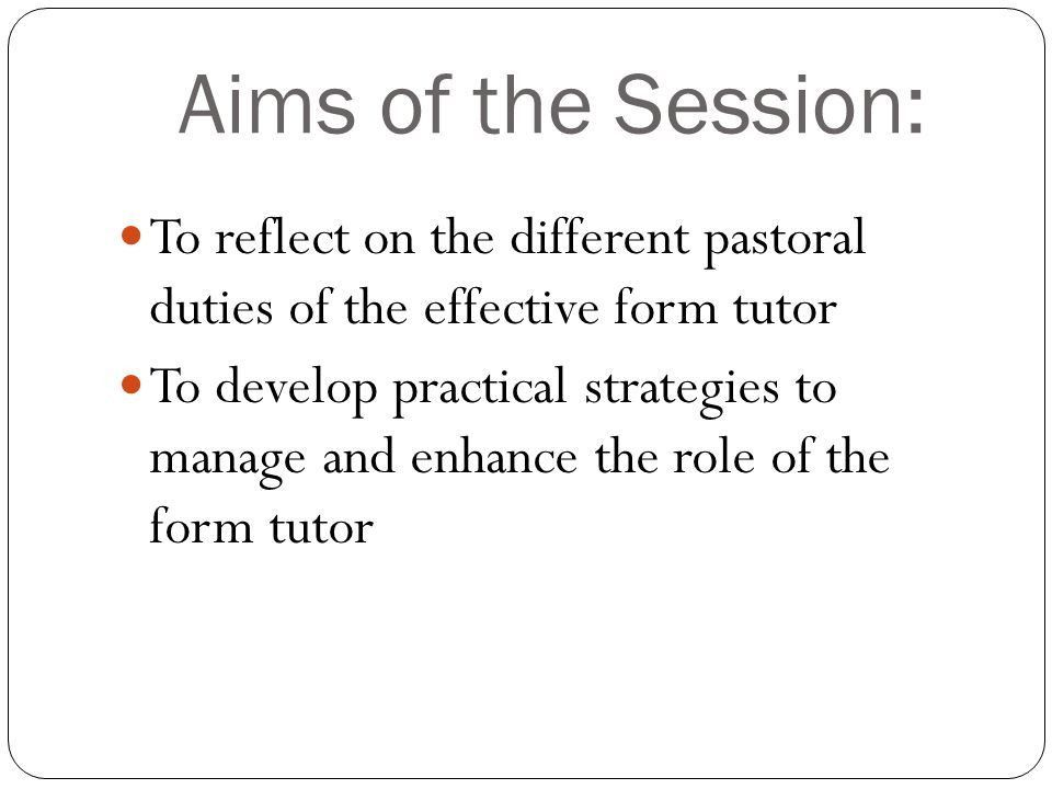Developing The Role of the Form Tutor - ppt download