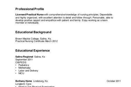 Lpn Nursing Resume Examples. Sample Nursing Resume - New Graduate ...