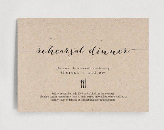 Free Printable Rehearsal Dinner Invitations | badbrya.com