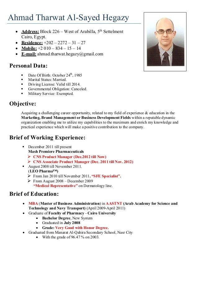 Updated Curriculum Vitae - Resume Template