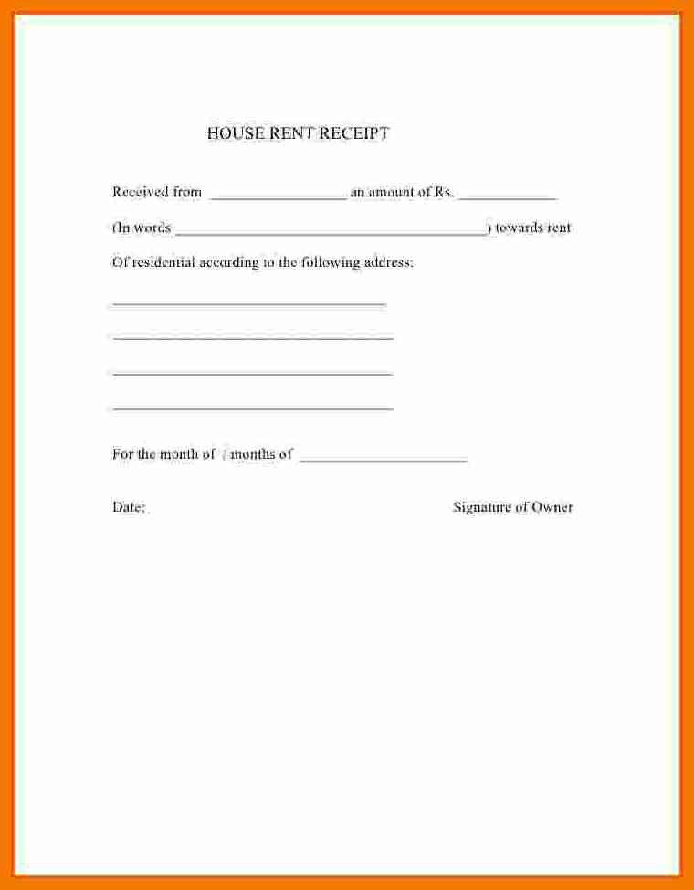 8+ rent receipt india format | resume holder
