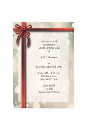 Inauguration Invitation Cards Online in India with Custom Printing ...