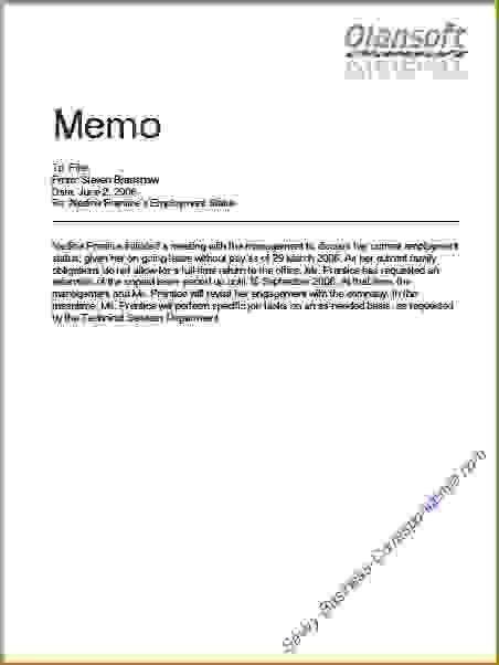 11+ memo formats | Memo Formats
