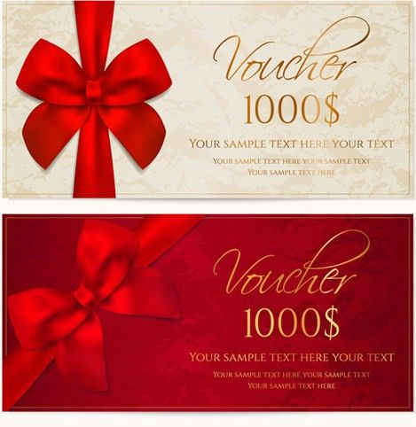 Vector gift voucher design template Free vector in Encapsulated ...