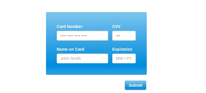 10 jQuery Credit Card Form Plugins | Learning jQuery