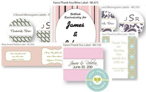 Free Designed Wedding and Valentines Day Label Templates